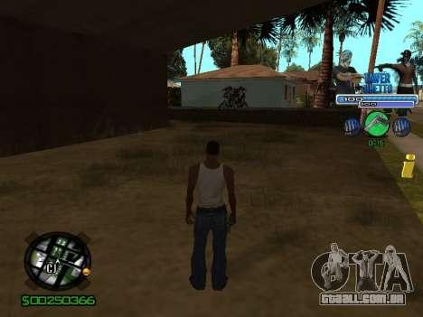 С-Hud Tawer-Gueto v1.6 Clássico para GTA San Andreas terceira tela