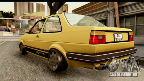 Volkswagen Jetta A2 Coupe para GTA San Andreas esquerda vista