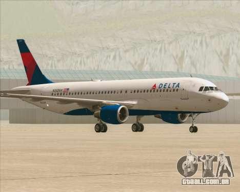 Airbus  A320-200 Delta Airlines para GTA San Andreas esquerda vista