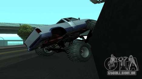 A nova física dos carros v2 para GTA San Andreas por diante tela