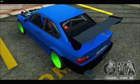 BMW e36 Drift Edition Final Version para GTA San Andreas esquerda vista