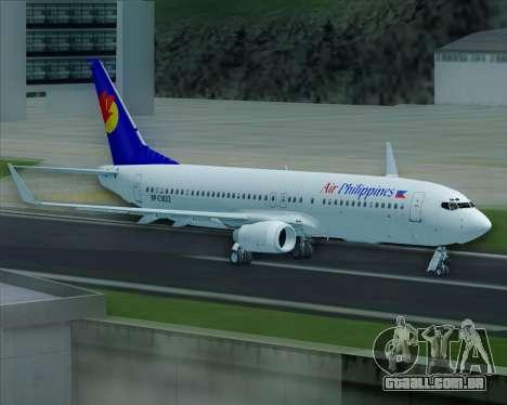 Boeing 737-800 Air Philippines para as rodas de GTA San Andreas