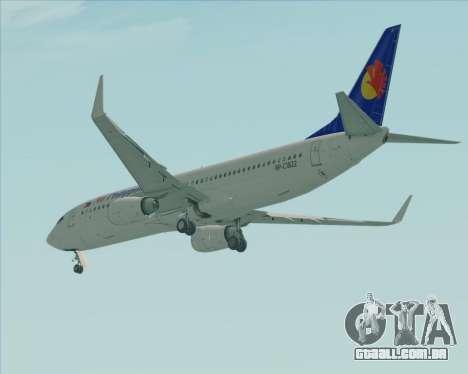 Boeing 737-800 Air Philippines para GTA San Andreas vista direita