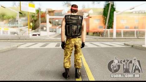 Counter Strike Skin 1 para GTA San Andreas segunda tela