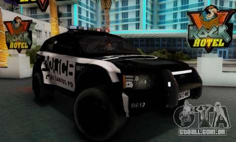 Bowler EXR S 2012 v1.0 Police para GTA San Andreas traseira esquerda vista