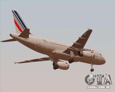 Airbus A319-100 Air France para GTA San Andreas vista traseira