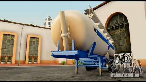 Mercedes-Benz Actros Trailer Schmidt para GTA San Andreas vista traseira