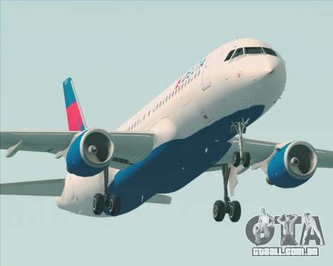 Airbus  A320-200 Delta Airlines para as rodas de GTA San Andreas