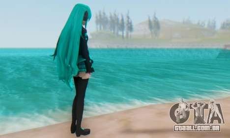 Miku Hatsune MMD para GTA San Andreas por diante tela