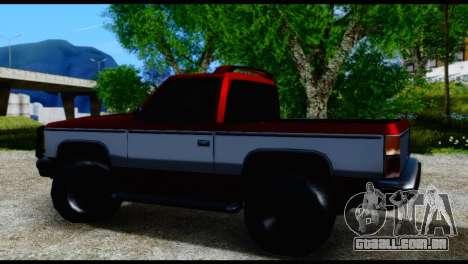 Rancher Hunter para GTA San Andreas traseira esquerda vista