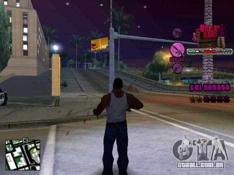 C-HUD Ballas TAWER para GTA San Andreas segunda tela