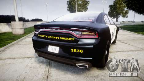 Dodge Charger 2015 County Sheriff [ELS] para GTA 4
