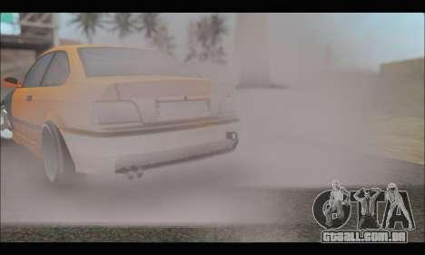 BMW e36 Drift para GTA San Andreas vista interior