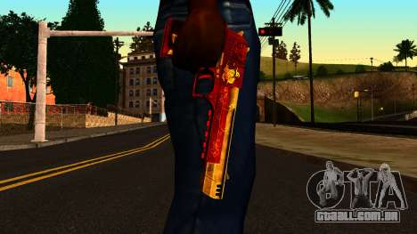 Natal Desert Eagle para GTA San Andreas terceira tela