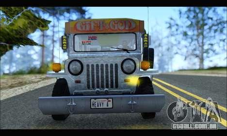 Sarao Stainless para GTA San Andreas traseira esquerda vista