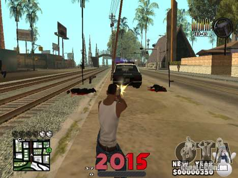 CLEO HUD New Year 2015 para GTA San Andreas terceira tela