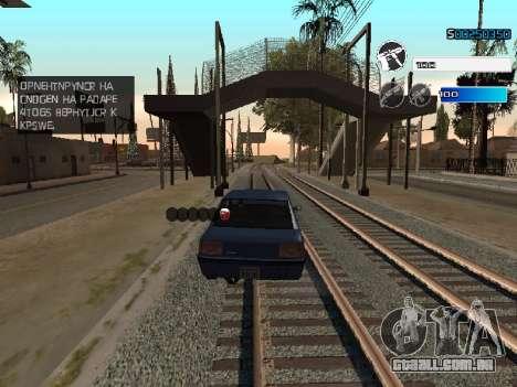 C-HUD by SampHack v.22 para GTA San Andreas por diante tela