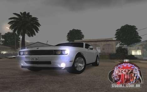 Natal velocímetro 2015 para GTA San Andreas por diante tela