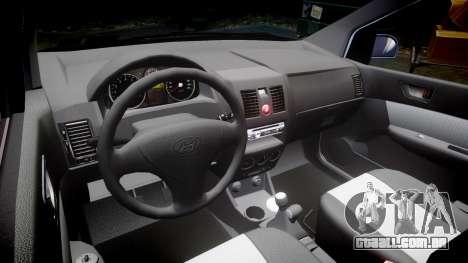 Hyundai Getz 2006 para GTA 4 vista interior