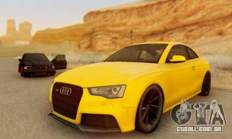 Audi RS5 (RC) para GTA San Andreas traseira esquerda vista