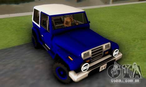 Messa Off-Road Styling pack v1 para GTA San Andreas esquerda vista