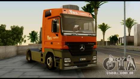 Mercedes-Benz Actros PJ1 para GTA San Andreas vista direita