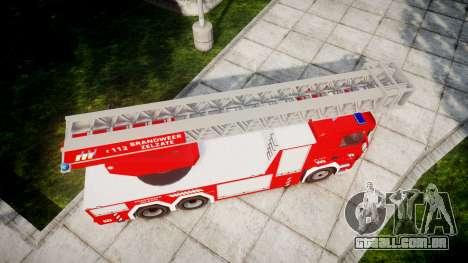 Scania R580 Belgian Fireladder [ELS] para GTA 4 vista direita