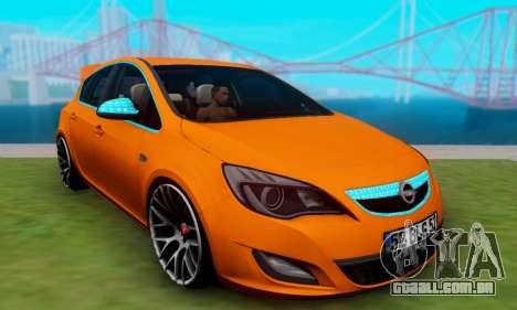 Opel Astra J Team para GTA San Andreas traseira esquerda vista