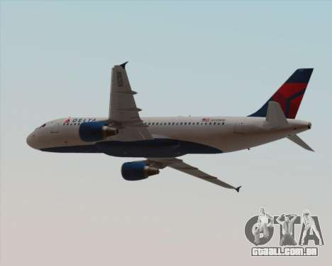Airbus  A320-200 Delta Airlines para GTA San Andreas vista inferior