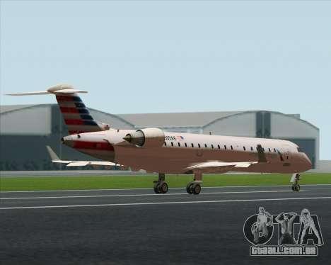 Bombardier CRJ700 American Eagle Airlines para GTA San Andreas vista interior