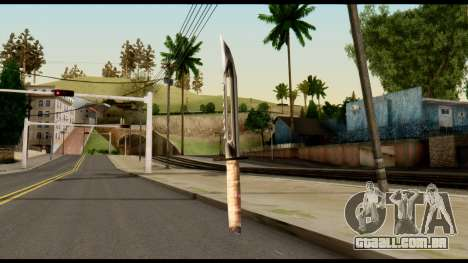 Survival Knife from Metal Gear Solid para GTA San Andreas segunda tela
