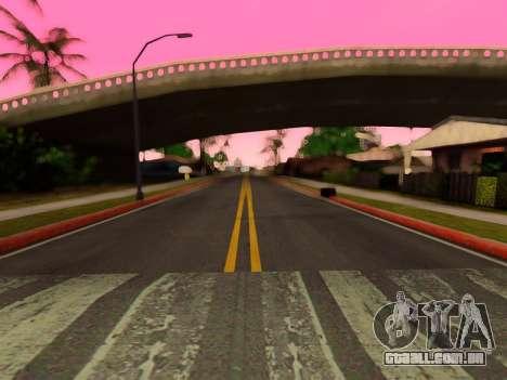 Melhoria da textura de estradas para GTA San Andreas por diante tela
