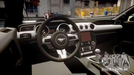Ford Mustang GT 2015 Custom Kit black stripes para GTA 4 vista interior