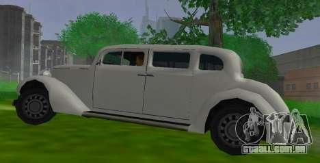Hustler Limousine para GTA San Andreas esquerda vista