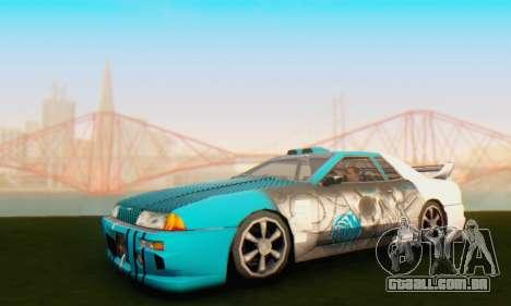 Elegy Skin Paintjob Skull para GTA San Andreas esquerda vista