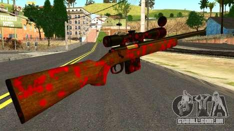 Rifle with Blood para GTA San Andreas segunda tela