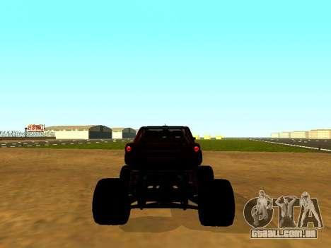 SuperMotoXL Zen MaXXimus CD 17.1 XL-HT para GTA San Andreas traseira esquerda vista