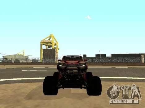 SuperMotoXL Zen MaXXimus CD 17.1 XL-HT para GTA San Andreas vista superior