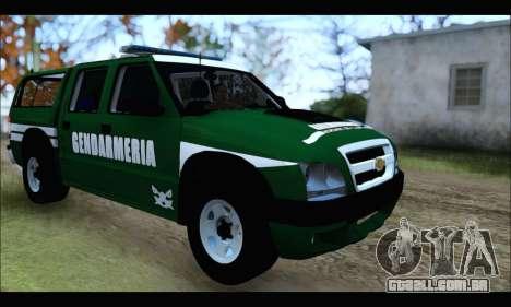 Chevrolet S-10 Gendarmeria para GTA San Andreas vista direita