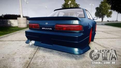 Nissan Silvia S13 1JZ para GTA 4 traseira esquerda vista