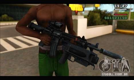 HK416 M320 Devgru para GTA San Andreas por diante tela