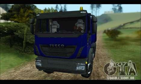 Iveco Trakker 2014 Tipper para GTA San Andreas esquerda vista