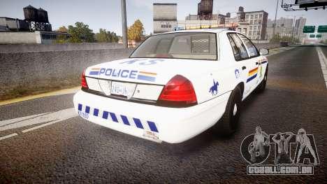 Ford Crown Victoria Canada Police [ELS] para GTA 4 traseira esquerda vista