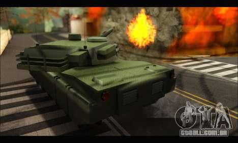 Retextured Rhino Tank para GTA San Andreas vista direita