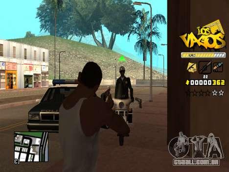 C-HUD Los Santos Vagos Gang para GTA San Andreas quinto tela