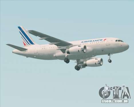 Airbus A319-100 Air France para GTA San Andreas esquerda vista