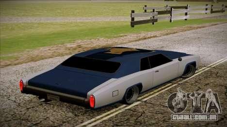 Buccaneer 2.0 para GTA San Andreas esquerda vista