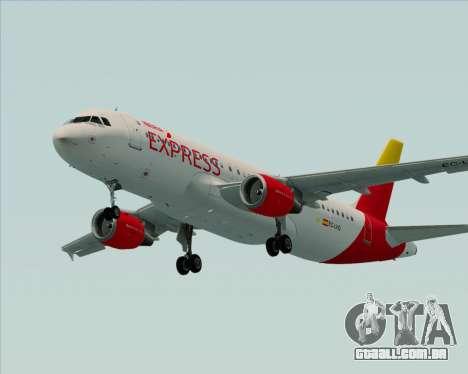 Airbus A320-200 Iberia Express para vista lateral GTA San Andreas