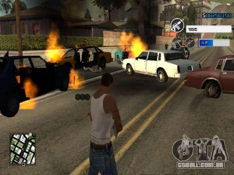 C-HUD by SampHack v.22 para GTA San Andreas segunda tela
