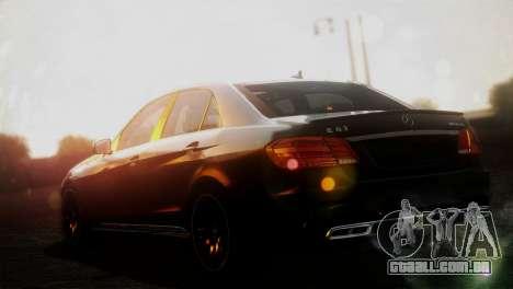 Mercedes-Benz E63 AMG 2014 para GTA San Andreas esquerda vista